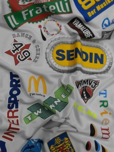 Logotipos sponsors serigrafia